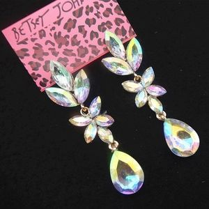 3/$20...BETSEY JOHNSON Crystal Drop Earrings